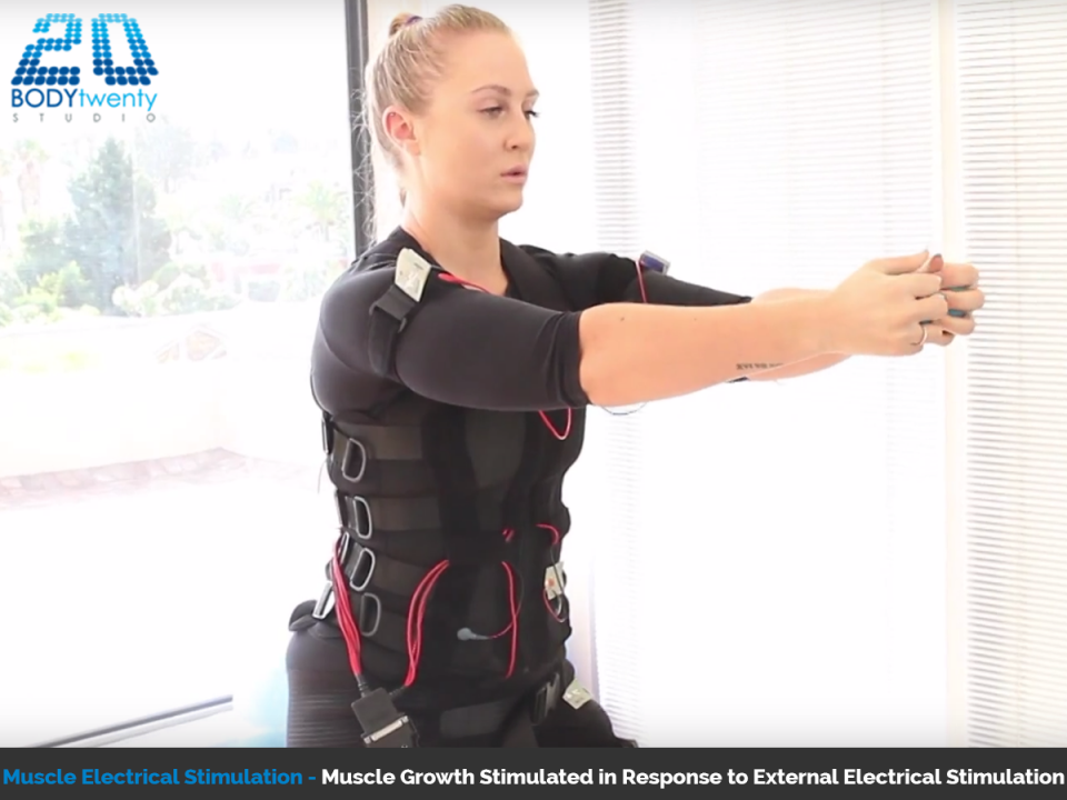 Muscle building with advanced electrical muscle stimulation
