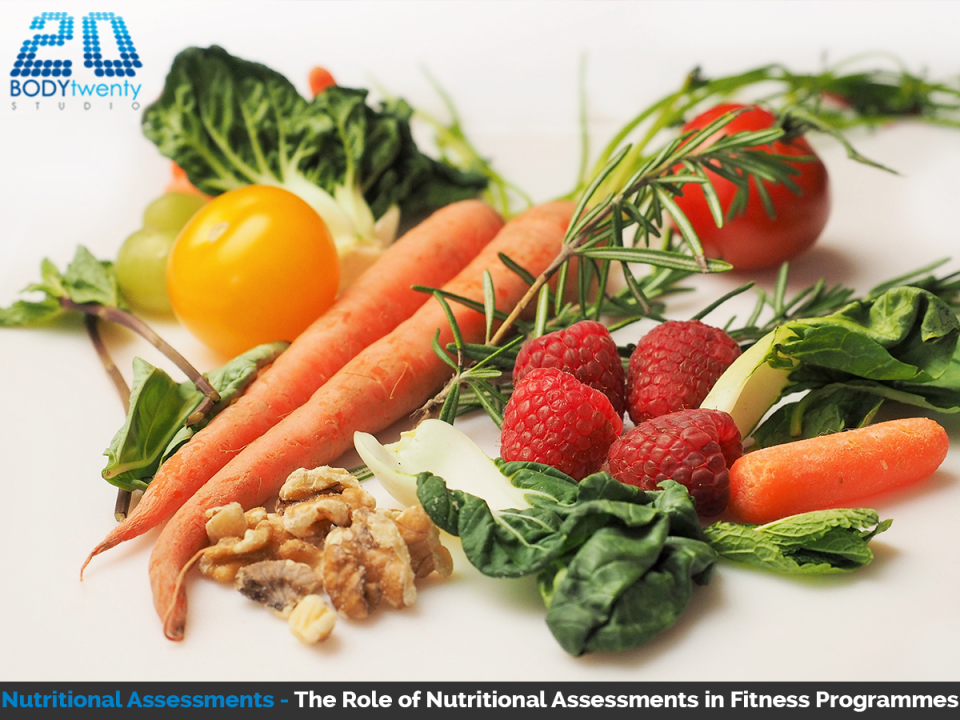 Nutritional assessments play a role in fitness programmes