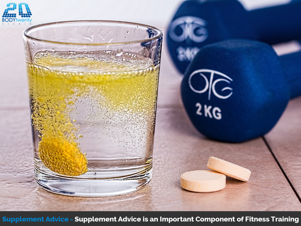 Supplement advice is an important component of fitness training