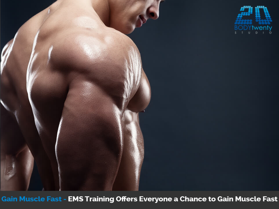 Gain muscle fast with EMS training