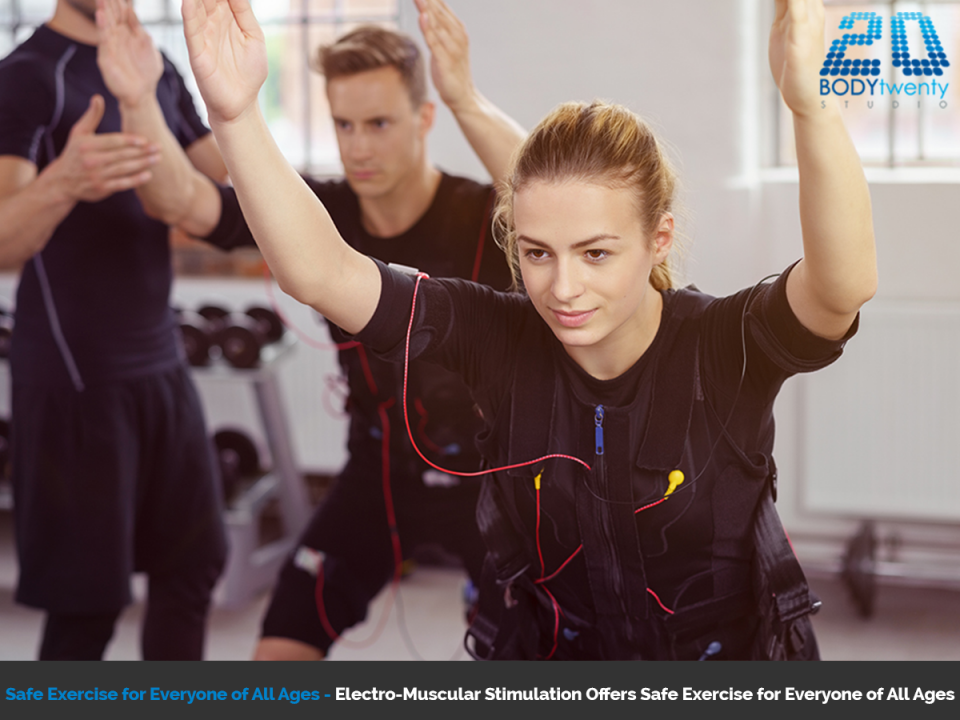 Safe exercise for everyone of all ages with electro-muscular stimulation